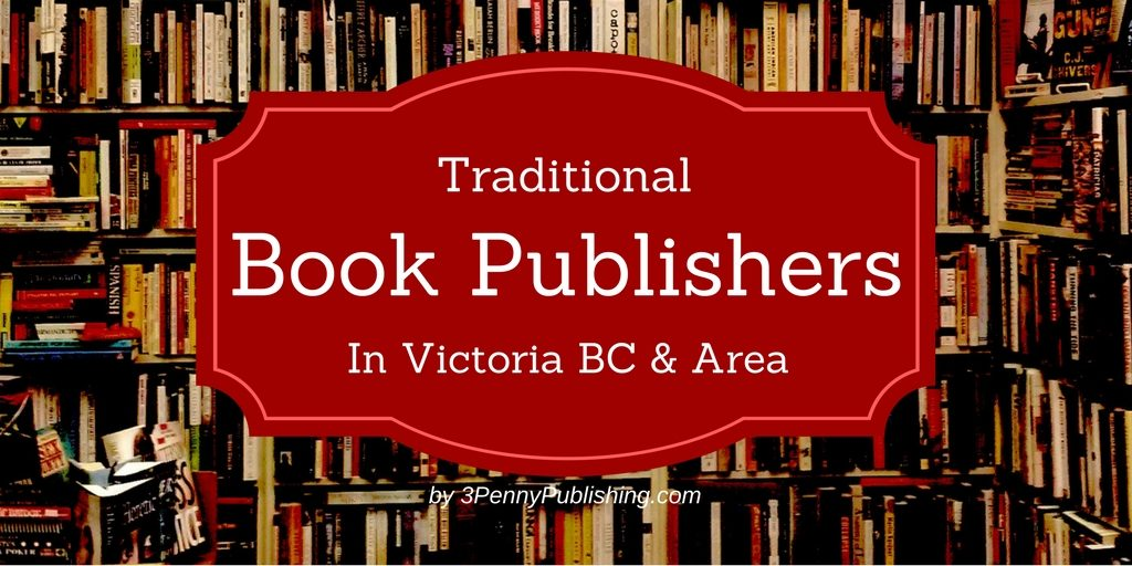 Traditional book publishers in Victoria text over image of bookshelves