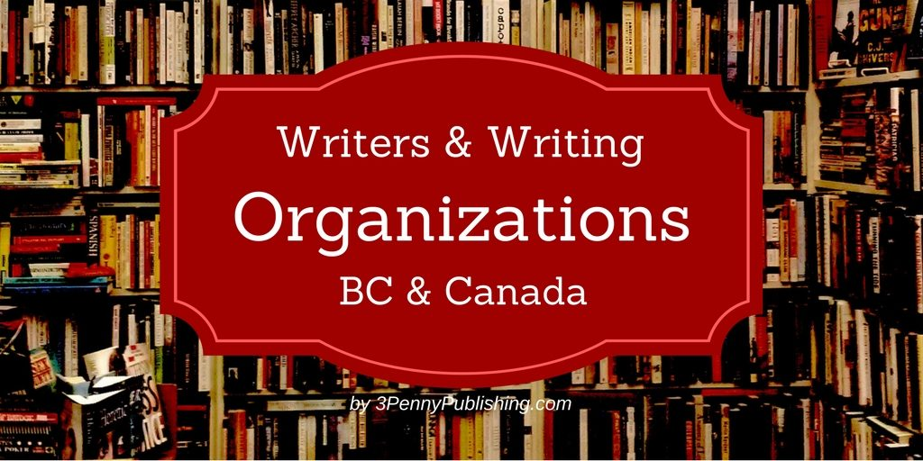 Writers and writing organizations in BC and Canada banner
