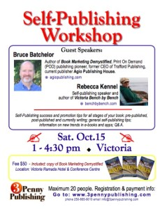 writing workshop - book promotion - bruce batchelor