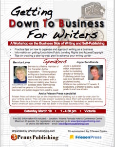 writing workshop - the business of writing