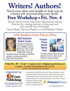 writing workshop - social-media for authors